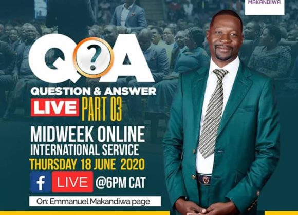 Question and Answer Session 3 with Emmanuel Makandiwa (18 June 2020)