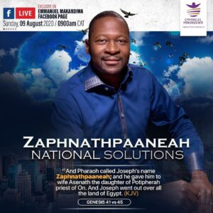 ZAPHNATHPAANEAH: National Solutions 2